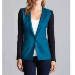 Elie Tahari Bethany Color Block Blazer Jacket Sz 6